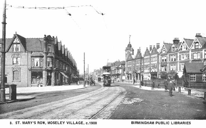 Moseley Village c.1900 [click to see larger image]
